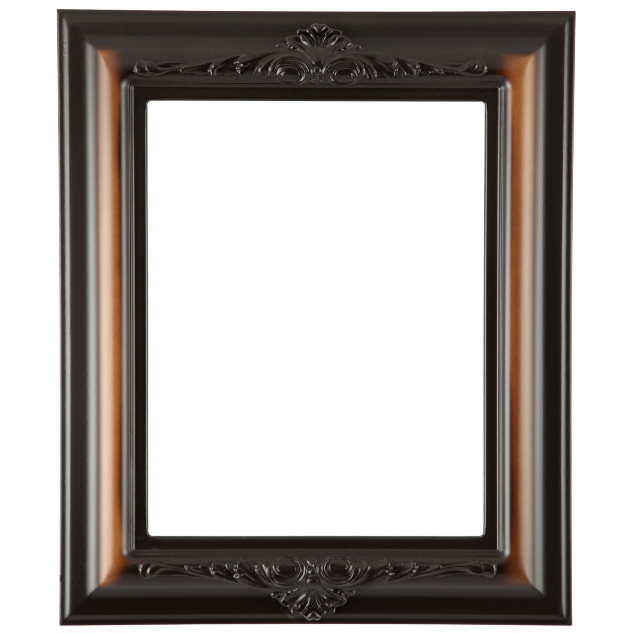 Rectangle Frame In Walnut Finish Vintage Brown Wooden