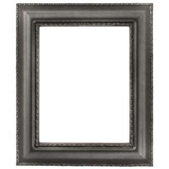 Somerset Rectangle Frame # 452 - Black Silver