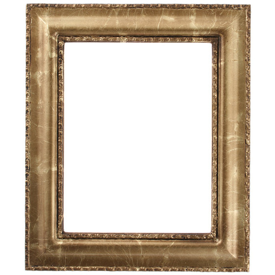 Rectangle Frame In Champagne Gold Finish Gold Leaf