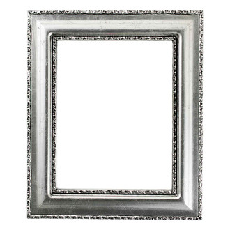 Somerset Rectangle Frame # 452 - Silver Leaf with Black Antique