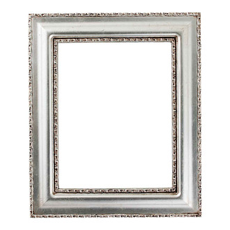 Somerset Rectangle Frame # 452 - Silver Leaf with Brown Antique