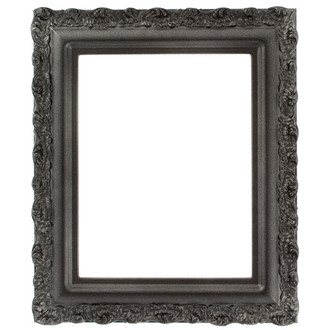 Venice Rectangle Frame # 454 - Black Silver