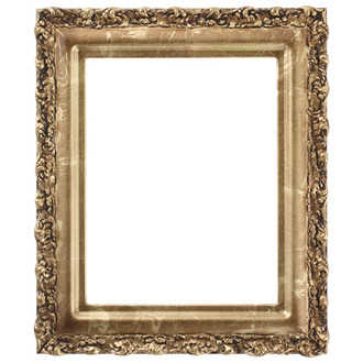 Venice Rectangle Frame # 454 - Champagne Gold
