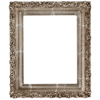 Venice Rectangle Frame # 454 - Champagne Silver