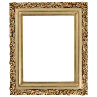 Venice Rectangle Frame # 454 - Gold Leaf
