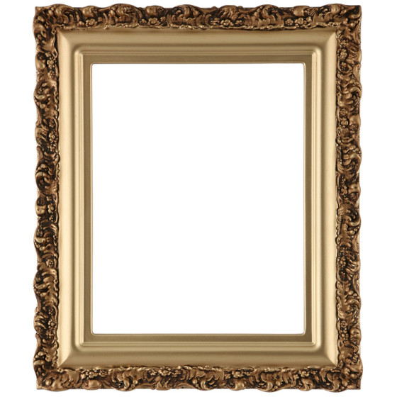 Venice Rectangle Frame # 454 - Gold Spray