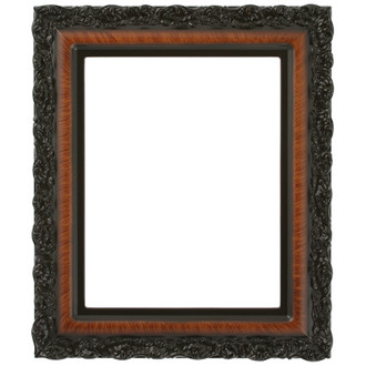 Venice Rectangle Frame # 454 - Vintage Walnut