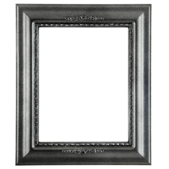 Boston Rectangle Frame # 457 - Black Silver