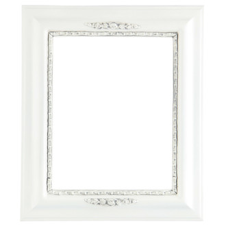 Boston Rectangle Frame # 457 - Linen White