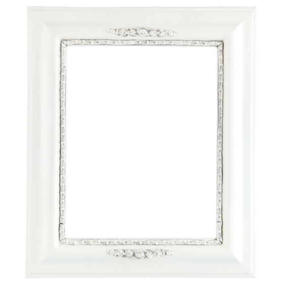 Rectangle Frame in Linen White Finish| Antique White Picture Frames ...