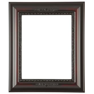 Boston Rectangle Frame # 457 - Rosewood