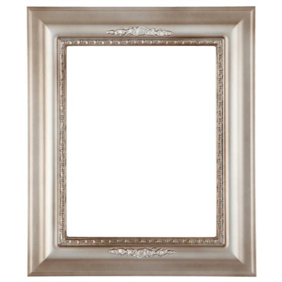 Rectangle Frame In Silver Shade Finish Vintage Decoration On Shaded
