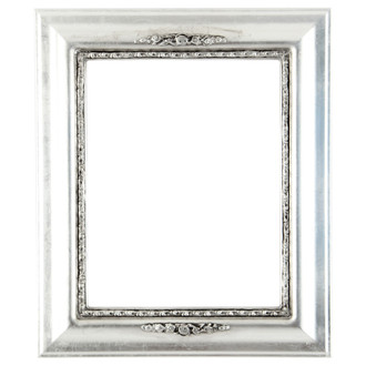 Boston Rectangle Frame # 457 - Silver Leaf with Black Antique