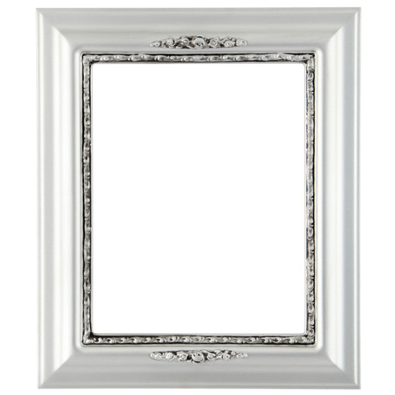 Boston Rectangle Frame # 457 - Silver Spray