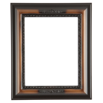 Boston Rectangle Frame # 457 - Walnut