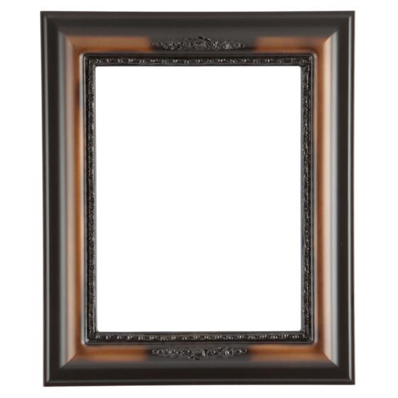 Boston Rectangle Frame # 457 - Walnut