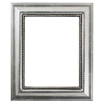 Heritage Rectangle Frame # 458 - Silver Leaf with Black Antique