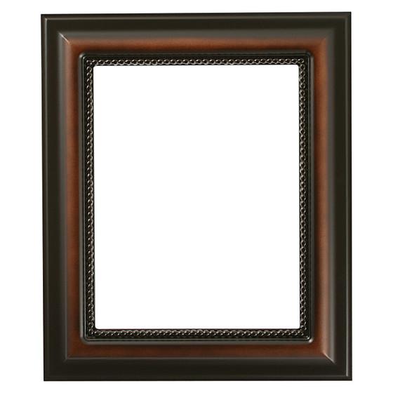 Heritage Rectangle Frame # 458 - Walnut