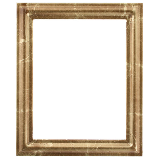 Rectangle Frame In Champagne Gold Finish Antique Gold