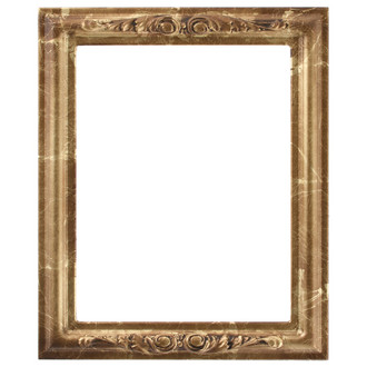Florence Rectangle Frame # 461 - Champagne Gold