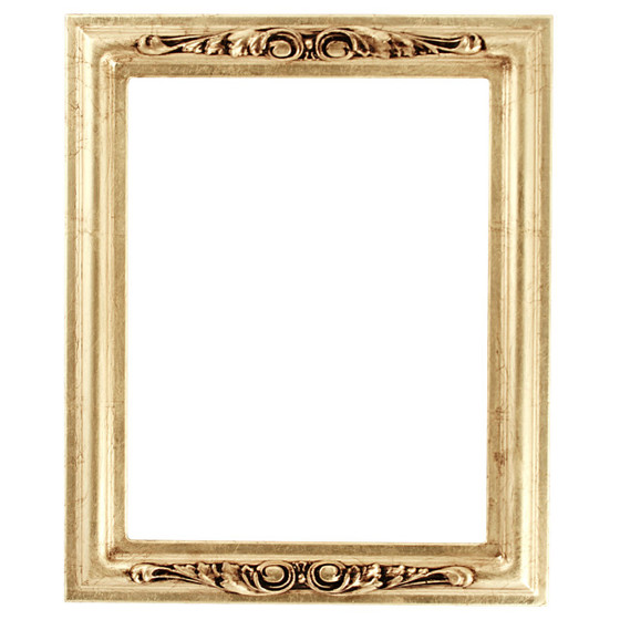 Florence Rectangle Frame # 461 - Gold Leaf