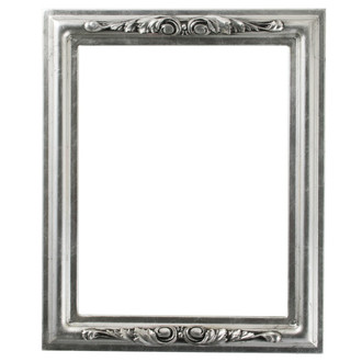 Florence Rectangle Frame # 461 - Silver Leaf with Black Antique