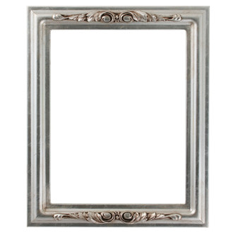 Florence Rectangle Frame # 461 - Silver Leaf with Brown Antique