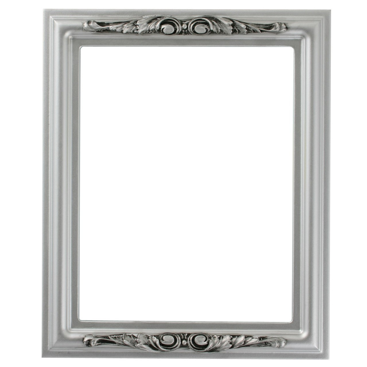 Rectangle Frame In Silver Spray Finish Silver Paint