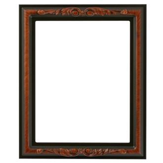 Florence Rectangle Frame # 461 - Vintage Walnut