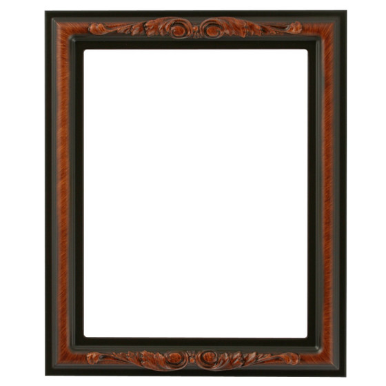 Florence Rectangle Frame # 461 - Vintage Walnut