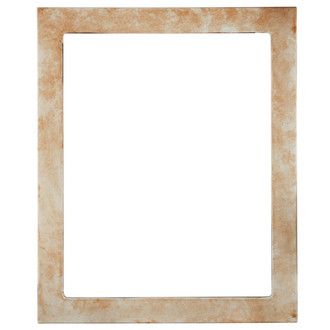 Vienna Rectangle Frame # 481 - Burnished Silver