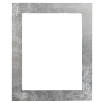 Cafe Rectangle Frame # 482 - Silver Leaf with Brown Antique