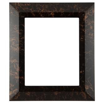 Veneto Rectangle Frame # 485 - Veined Onyx