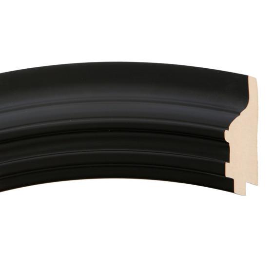 Imperial Rectangle Frame # 490 Arc Sample - Matte Black