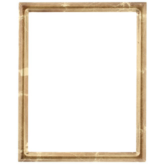 Saratoga Rectangle Frame # 550 - Champagne Gold