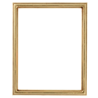 Saratoga Rectangle Frame # 550 - Gold Leaf
