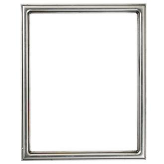 Saratoga Rectangle Frame # 550 - Silver Leaf with Black Antique