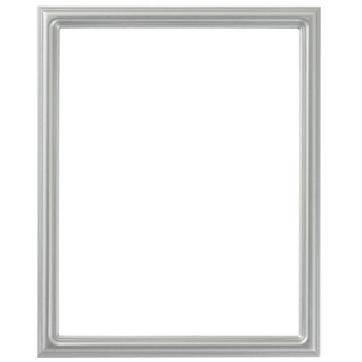 Saratoga Rectangle Frame # 550 - Silver Spray