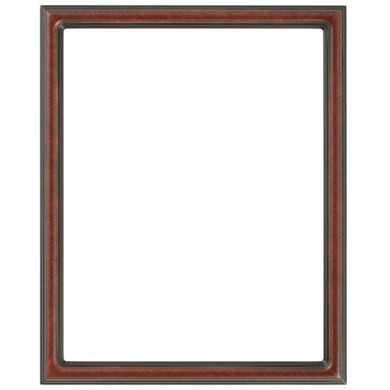 Rectangle Frame In Vintage Cherry Finish Antique Stripping On