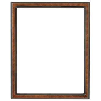 Saratoga Rectangle Frame # 550 - Vintage Walnut