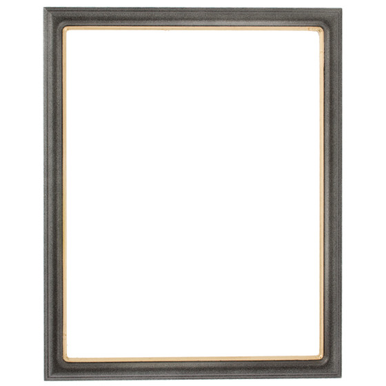Hamilton Rectangle Frame # 551 - Black Silver with Gold Lip