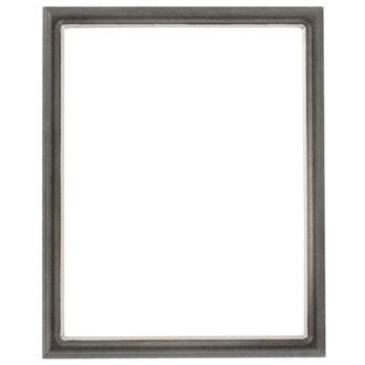 Hamilton Rectangle Frame # 551 - Black Silver with Silver Lip