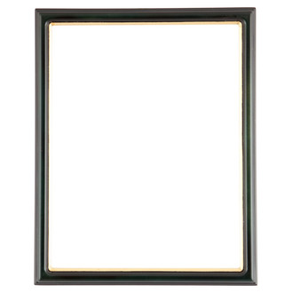 Hamilton Rectangle Frame # 551 - Hunter Green with Gold Lip