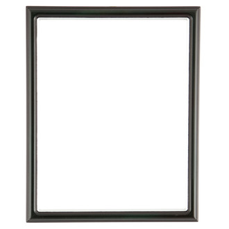 Hamilton Rectangle Frame # 551 - Hunter Green with Silver Lip