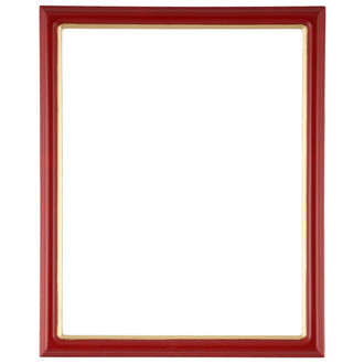 Hamilton Rectangle Frame # 551 - Holiday Red with Gold Lip