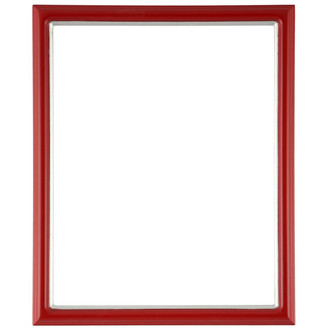 Hamilton Rectangle Frame # 551 - Holiday Red with Silver Lip