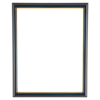 Hamilton Rectangle Frame # 551 - Royal Blue with Gold Lip