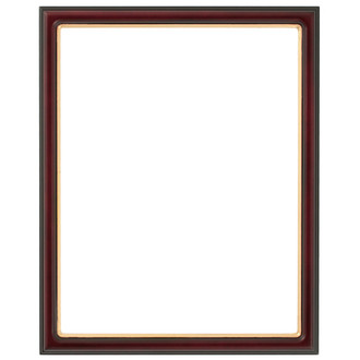 Hamilton Rectangle Frame # 551 - Rosewood with Gold Lip
