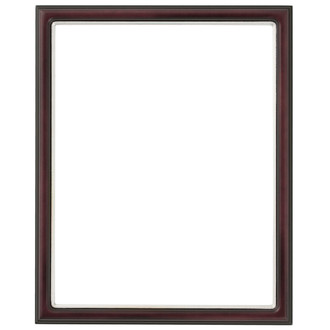 Hamilton Rectangle Frame # 551 - Rosewood with Silver Lip