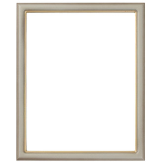 Hamilton Rectangle Frame # 551 - Taupe with Gold Lip